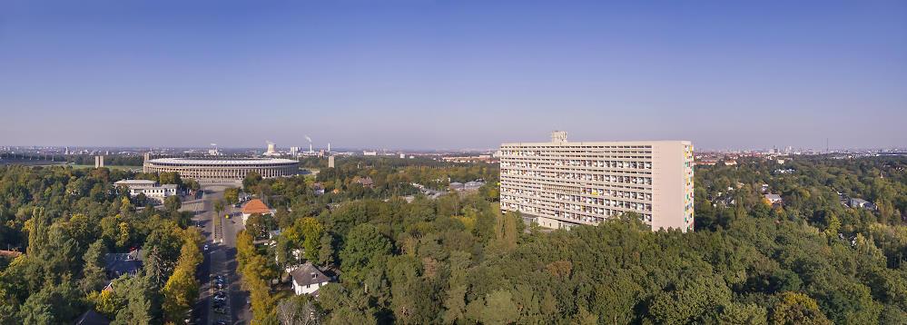 Corbusierhaus - Luftaufnahme